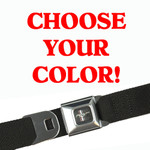 Mustang Seatbelt Belt - Solid Colors