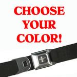 Mustang Seatbelt Belt - Solid Colors