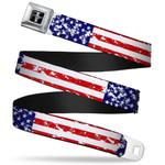 Mustang Seatbelt Belts - Patriotic Designs