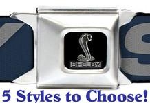 Shelby Seatbelt Belts - 5 Styles to Choose