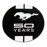 Mustang 50 Years Logo Decal - Black or White