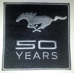 Mustang 50 Years Patch
