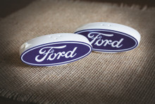Ford Oval Logo Salt & Pepper Ceramic Shakers