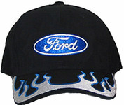 Ford Blue & Silver Flames Hat