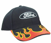 Ford Red & Black Flames Hat