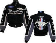 Gals Mustang Multi-Logo Jacket in Black (Script Style)