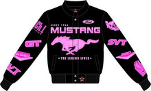Gals Mustang Multi-Logo Jacket in Pink