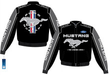 Mustang Logo Jacket - Black Embroidered Racing