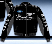 Mustang Multi-Logo Jacket (Script Style) Black - Closeout!