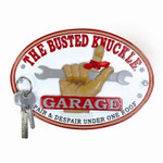 Busted Knuckle Oval Key Rack, Resin