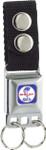 Buckle Keychain - Round Shelby Cobra Logo w/ Blue Background