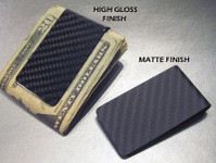Carbon Fiber Money Clip - Gloss or Matte Styles