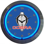 Neon Clock - Ford Shelby Cobra in Blue