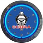 FORD COBRA NEON CLOCK