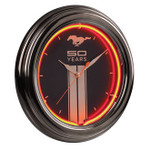Mustang Fifty Years Neon Clock