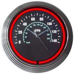 Neon Clock - Speedometer Style
