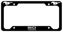 50 YEARS Mustang License Plate Frame Cover - Steel Art