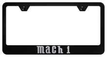 License Plate Frame - MACH 1 - Laser Etched Black