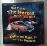 "Mustang ""It's Not Gettin'"" Magnet"