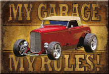 My Garage My Rules Magnet