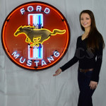 "36"" Mustang Neon Sign in Steel Can"