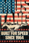 Ford - Mustang Built For Speed Patriotic Poster