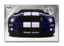 Shelby GT500 Mustang Cobra Poster - Blue