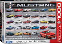 Puzzle - Ford Mustang Evolution 50 YEARS - 1000 Pieces Landscape Style