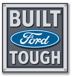 Built Ford Tough Metal Sign - 15""
