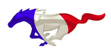 "24"" FRANCE Mustang Unites Cutout Running Horse Sign"