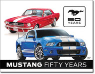 Ford Mustang 50th Anniversary Tin Sign