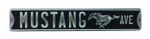 Mustang Ave - Embossed Running Horse Tin Sign