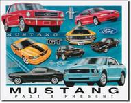 Mustang Chronology Tin Sign