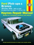 Haynes - Repair Manual  Ford Trucks & Broncos 1973-1979