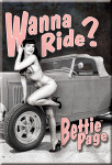 Wanna Ride? Bettie Page Magnet