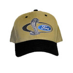 SVT Shelby Mustang Cobra Snake Hat Tan & Black