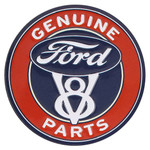 Ford V8 Parts Embossed Tin Magnet