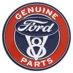 Ford V8 Parts Embossed Tin Magnet