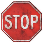 STOP SIGN Embossed Tin Magnet