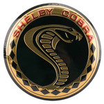 SHELBY COBRA Embossed Tin Button Sign