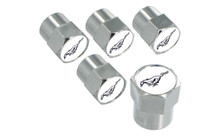 Valve Stem Caps with Silver Running Horse - Set of 5