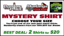 Mystery Shirt - Past Car Show Apparel - 2 Shirts