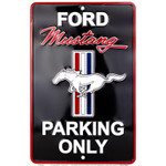 Mustang Parking Only Metal Sign -Black (Small)
