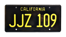 License Plate BULLIITT JJZ 109 CA Black/Yellow