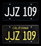 JJZ 109 BULLITT License Plates - TWO PACK COMBO  Special Price!