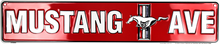 Mustang Avenue - Embossed Tin Sign
