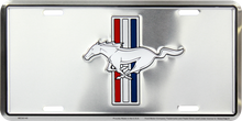 Tri-Bar Logo Embossed License Plate - Silver