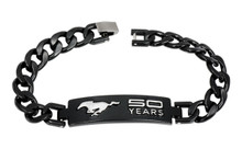 Bracelet - 50 YEARS Mustang Chrome-on-Black