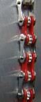 Timing Chain w/Crystals - Silver/Red - Slim
