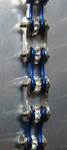 Timing Chain w/Crystals - Silver/Blue - Slim